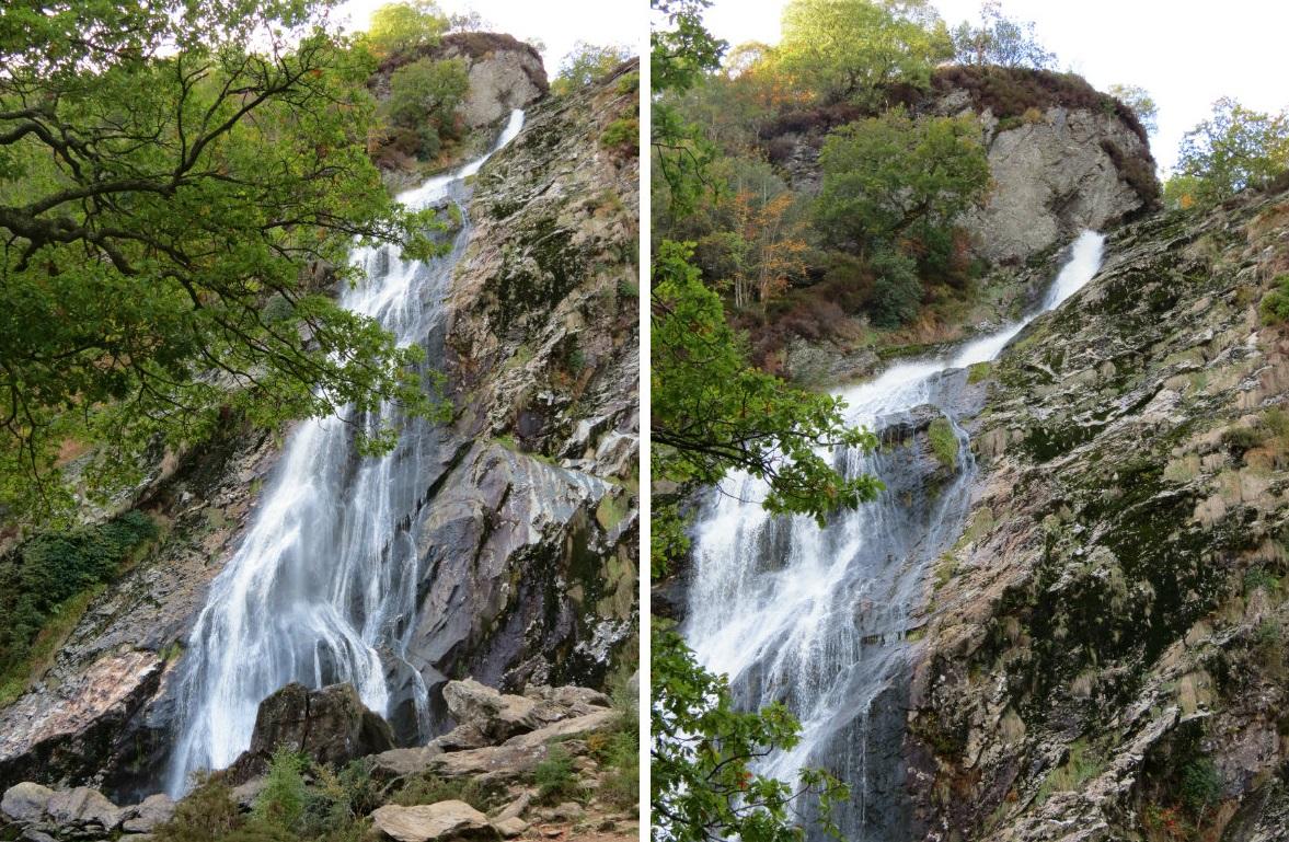 Powerscourt Waterfall collage